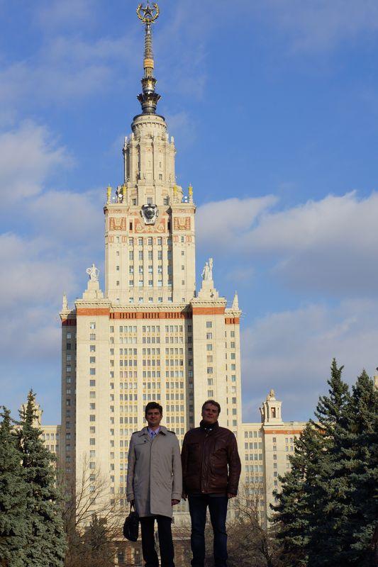 Проф. Ю.Гогоци и А.Гогоци, Москва, ноябрь 2013